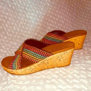 Sketchers(7) Cork Wedge-Multicolored-Perfect!